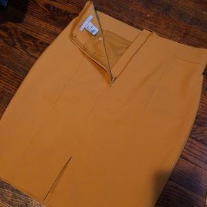 H&M Mustard Gold Mini Skirt (Size 6)